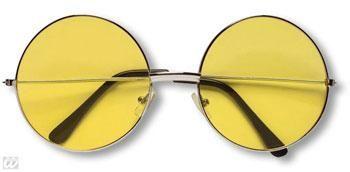 Gelbe 70er Sonnenbrille