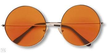 Orange 70er Sonnenbrille
