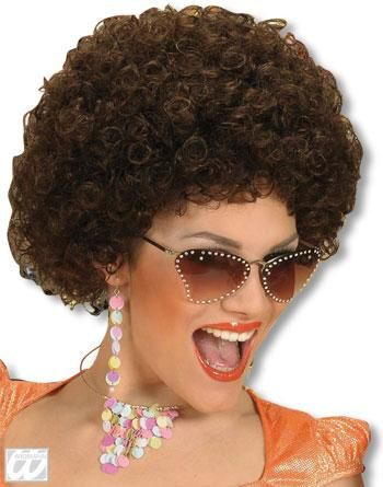 Afro Wig Medium Brown