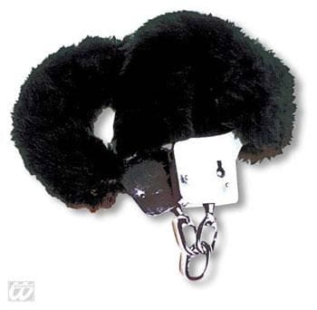 Plush Handcuffs black