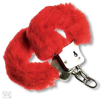 Plush Handcuffs red