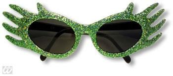 Space Jam Glitter Sunglasses Green
