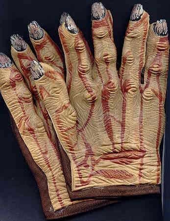 Horror Gloves Brown