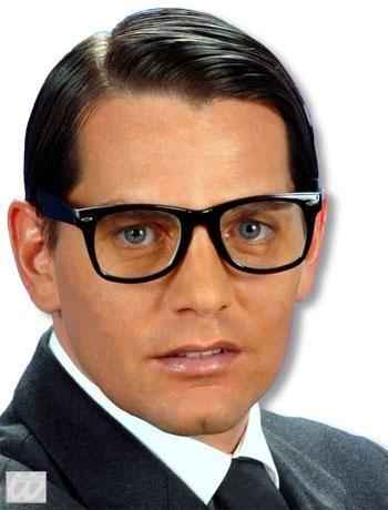 Black Nerd Glasses with Lenses