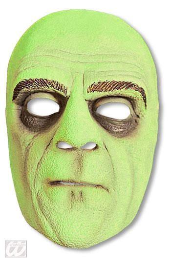 Horror Buttler Halbmaske Grün