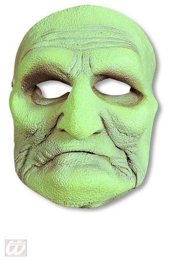 Grüne Moor Hexe Halbmaske