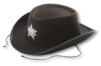 Children cowboy dark brown