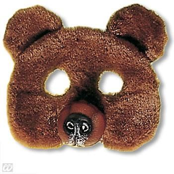 Kids Mask Bear with Plush