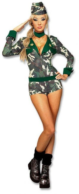 Sexy Army Girl Costume M