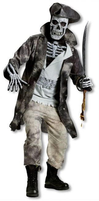 Pirate Captain Skeleton Costume