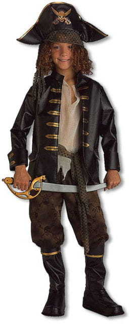 Brave Pirate Captain Child Costume