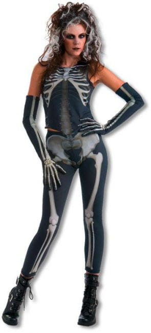 Creepy Skeleton Girl Costume