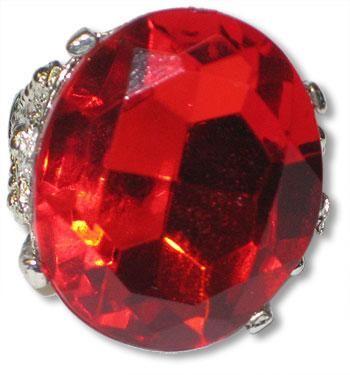 Runder Ring mit rubinrotem Schmuckstein