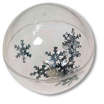 Spring ball with silver snowflakes