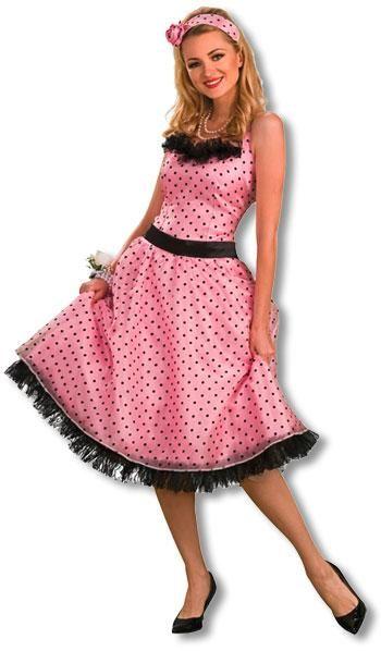 Polka Dot Prom Costume M