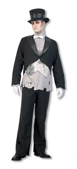 Ghost Groom Costume L