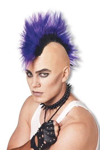 Mohawk Punk Wig Purple