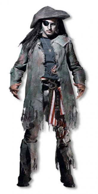 Ghost pirate costume dlx