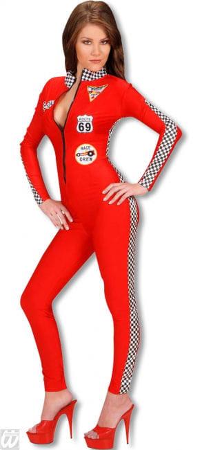 Rennfahrerin Kostüm