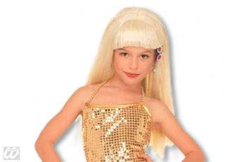 Kinderperücke Glamour Girl blond