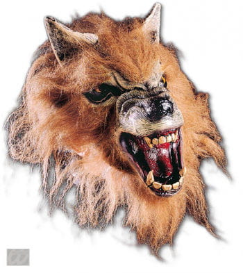 Snarling werewolf half mask