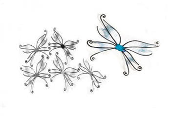 Butterfly wings blue