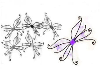 Butterfly Fairy Wings Purple
