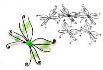 Butterfly wings green