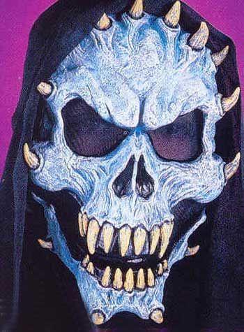 Evil Demon Mask Blue
