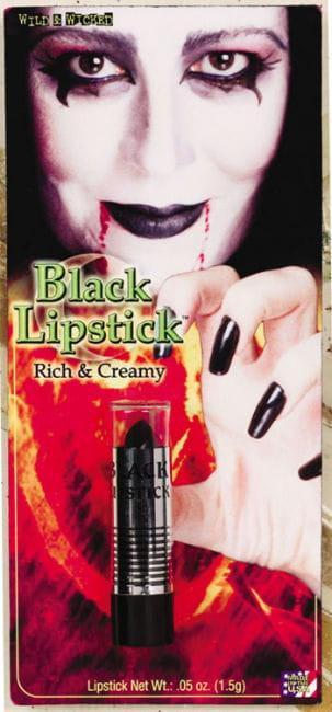 Schwarzer Lippenstift