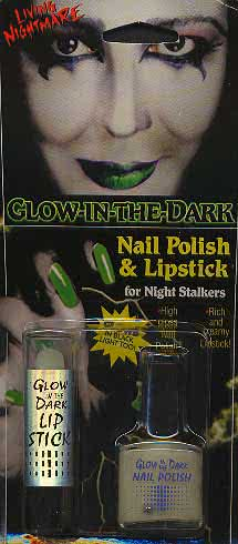 C: Lipstick and Nail Polish Glow in the Dark