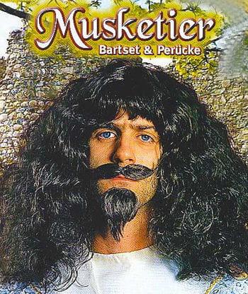 Musketier Bart / Perücke