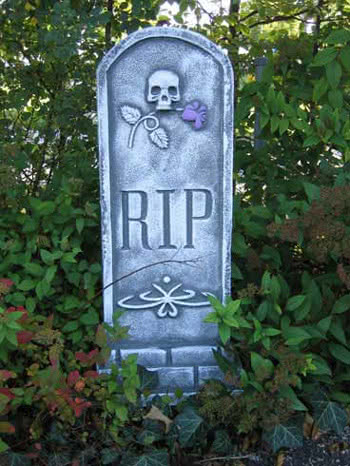 Tombstone Skull and Rose
