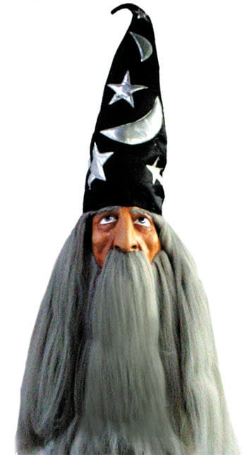 Wizard Mask with Synthetic Hair