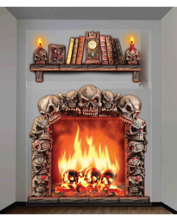 Halloween fireplace wall film