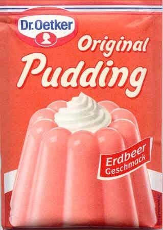 Puddingpulver Erdbeer