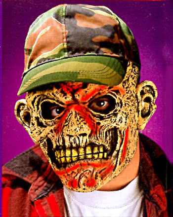 Redneck Zombie Green Cap Mask
