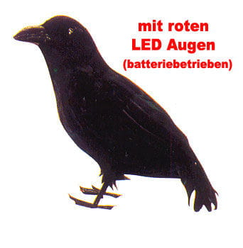 Raven with Red LED Eyes