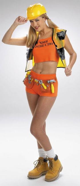 Sexy Handwerker Girl Kostüm Gr. S