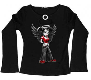 Girly Long Sleeve Goth Angel Size M