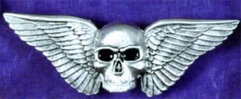 Gürtelschnalle w Wings and Skull