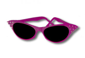 50s Sunglasses Pink with Rhinestones