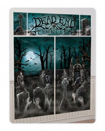 5 pcs. Halloween Wall Stickers Set cemetery