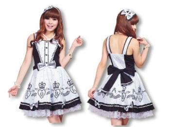 Gothic Lolita dress with matching hairband