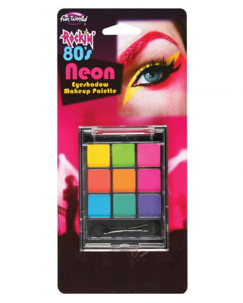 80er Jahre Neon Lidschatten Palette