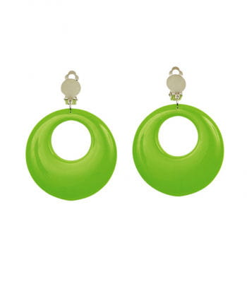 80s Neon Green Earrings