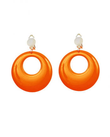 80s Neon Orange Earrings