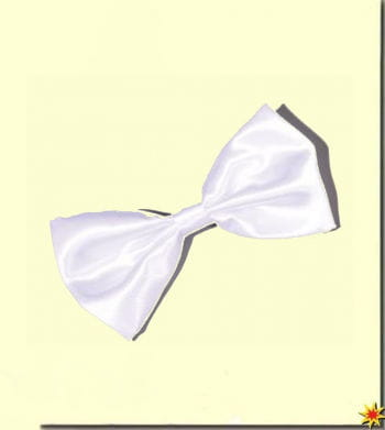 Satin bow tie white