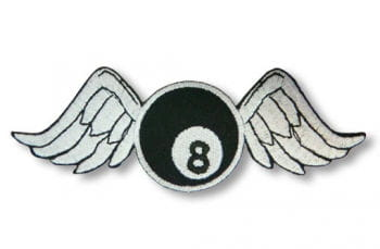 8-ball patch with wings