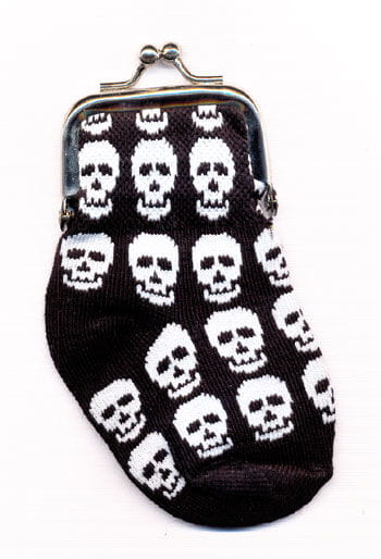 Purse Sock with Skulls